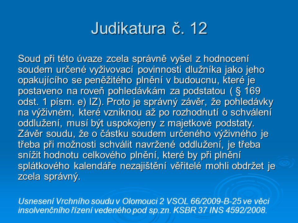 Judikatura č. 12