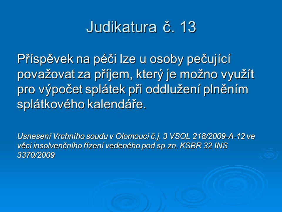 Judikatura č. 13