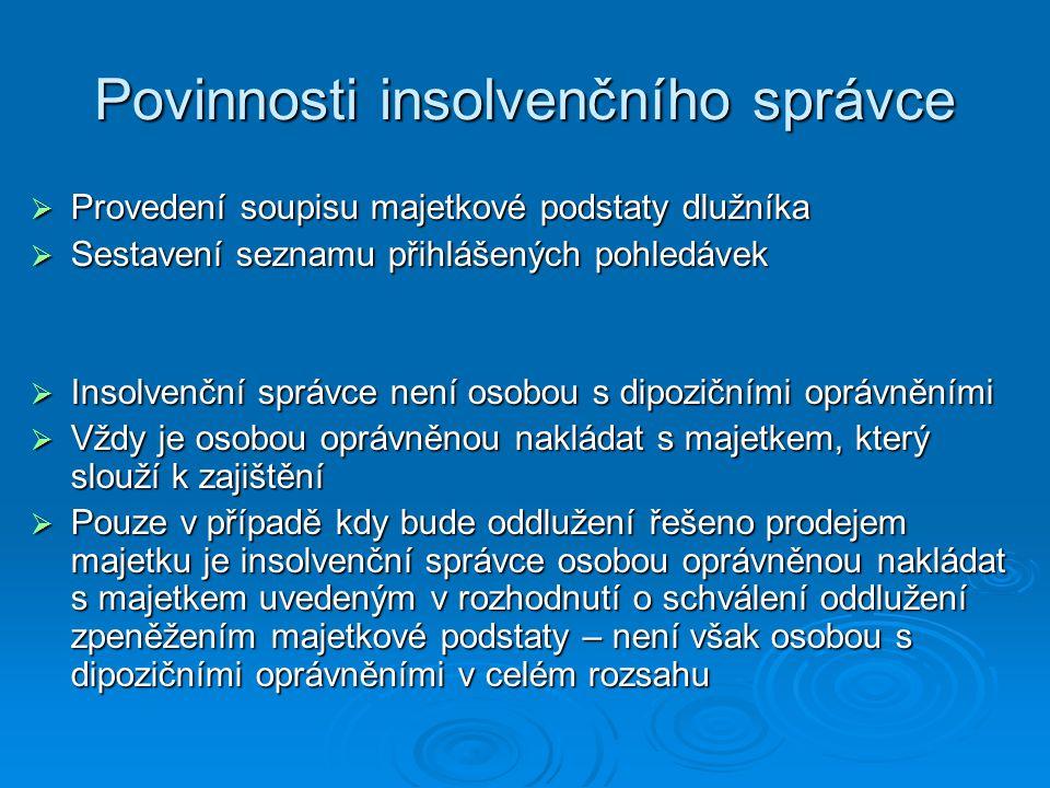 Povinnosti insolvenčního správce