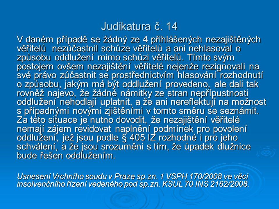 Judikatura č. 14