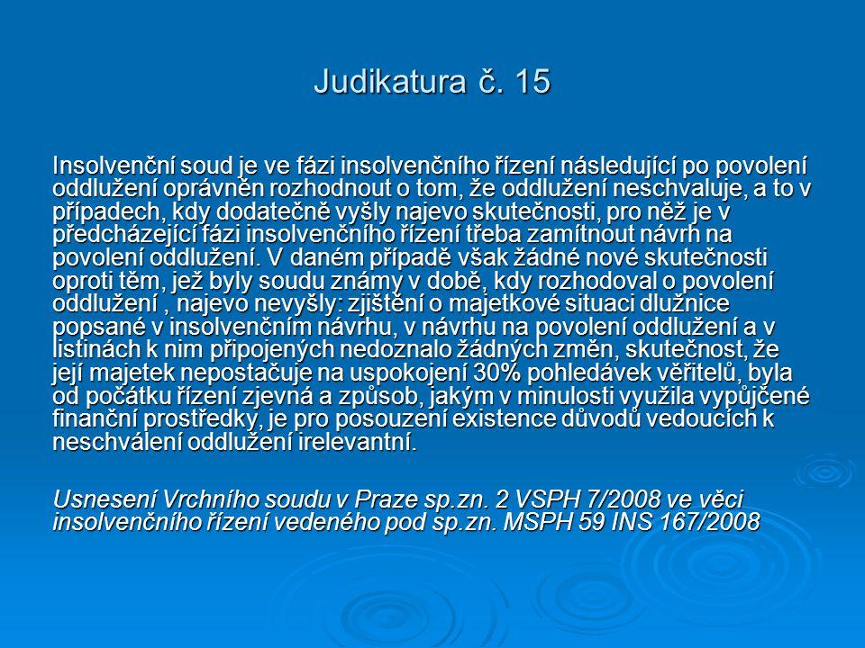 Judikatura č. 15
