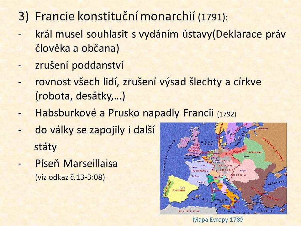 Francie konstituční monarchií (1791):