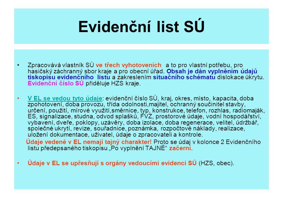 Evidenční list SÚ
