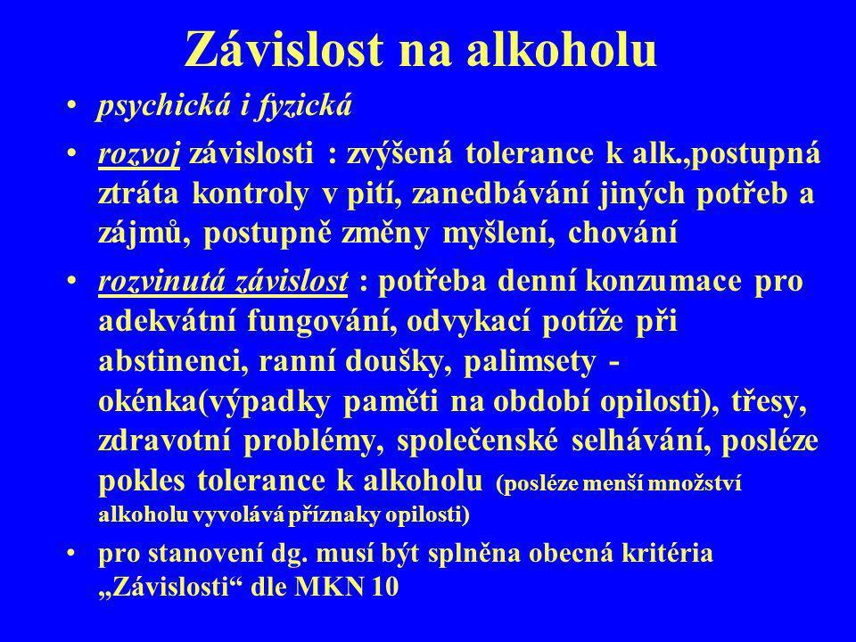 Závislost na alkoholu psychická i fyzická