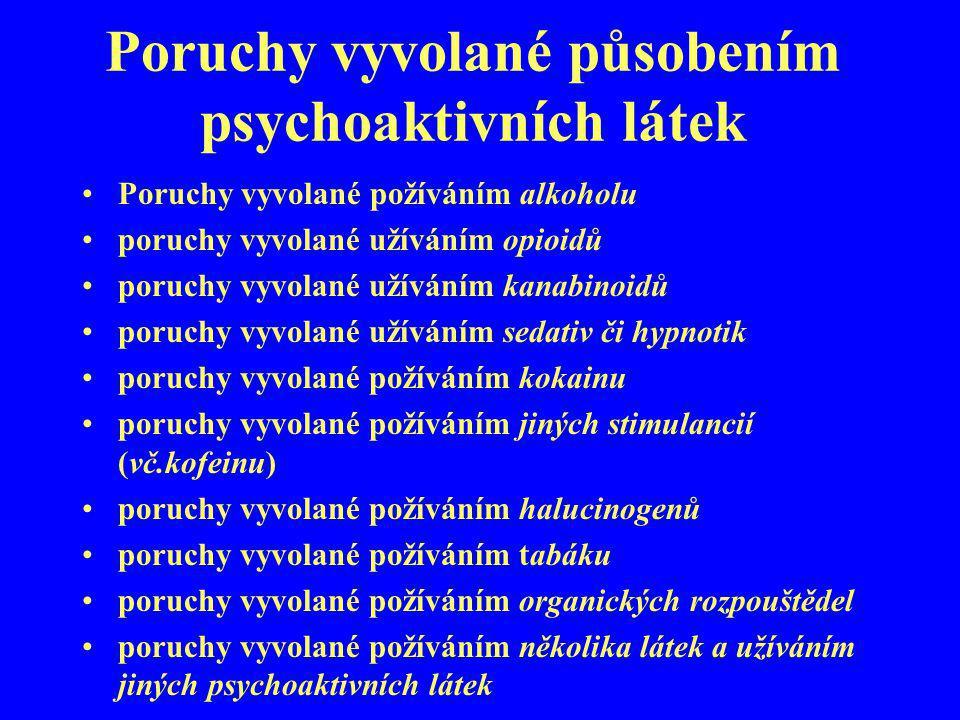Poruchy vyvolané působením psychoaktivních látek