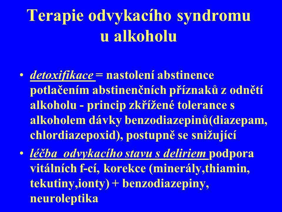 Terapie odvykacího syndromu u alkoholu