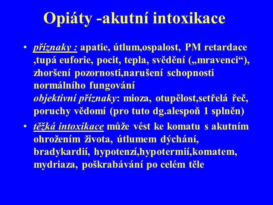 Opiáty -akutní intoxikace