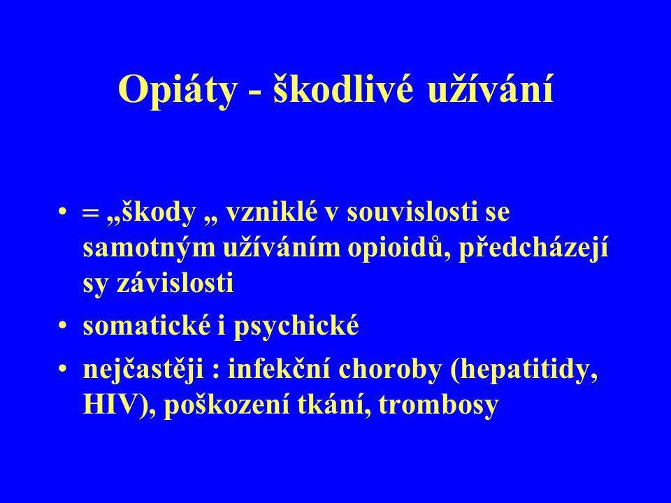 Opiáty - škodlivé užívání