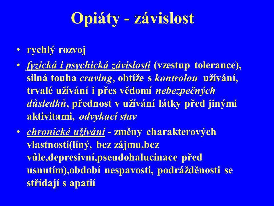 Opiáty - závislost rychlý rozvoj
