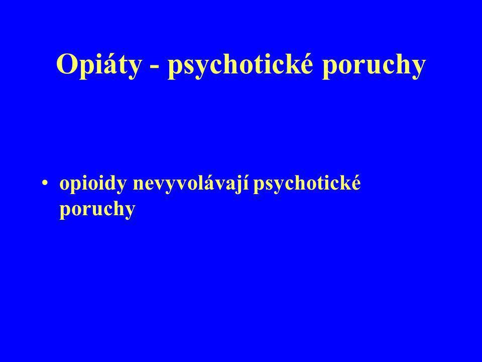 Opiáty - psychotické poruchy