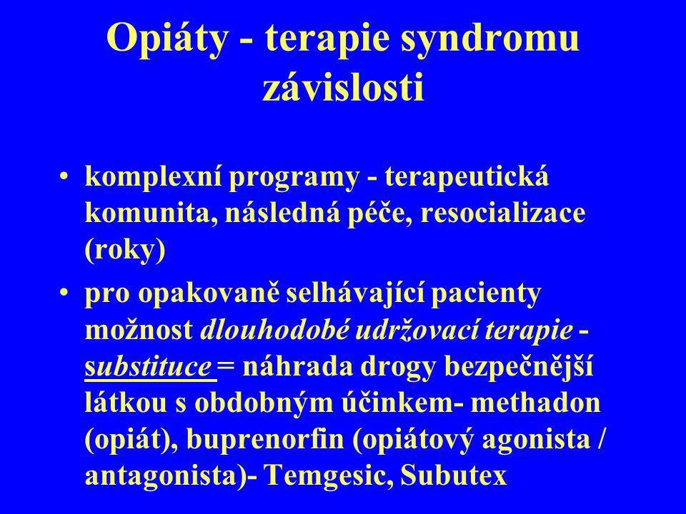 Opiáty - terapie syndromu závislosti