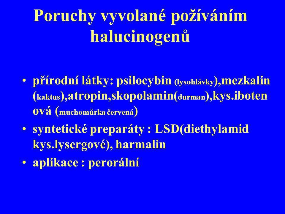 Poruchy vyvolané požíváním halucinogenů