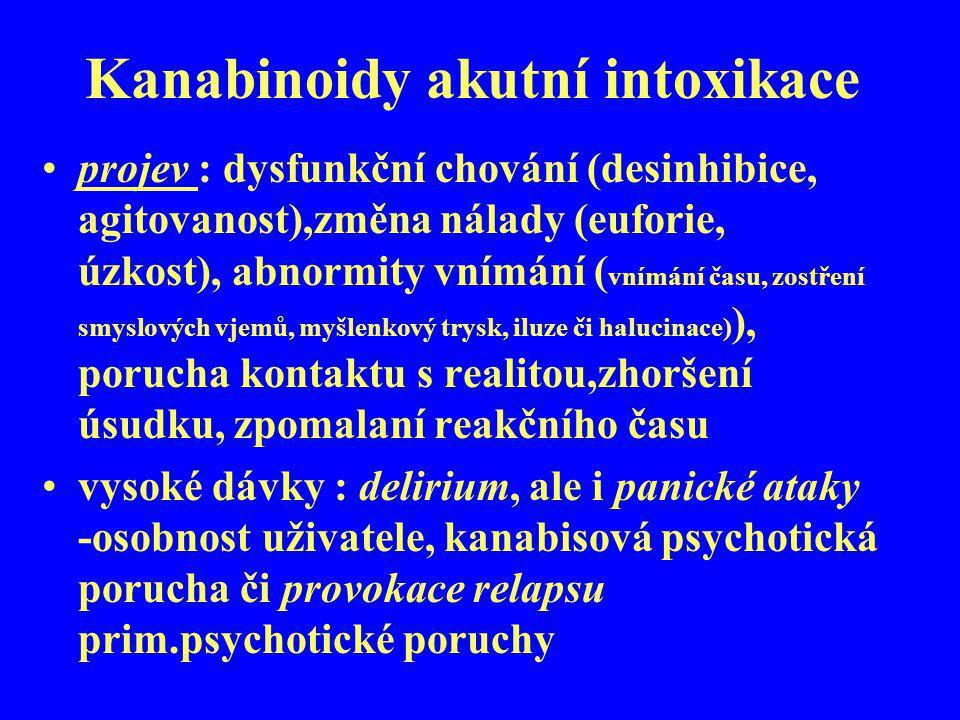 Kanabinoidy akutní intoxikace