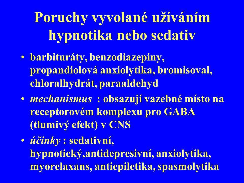 Poruchy vyvolané užíváním hypnotika nebo sedativ