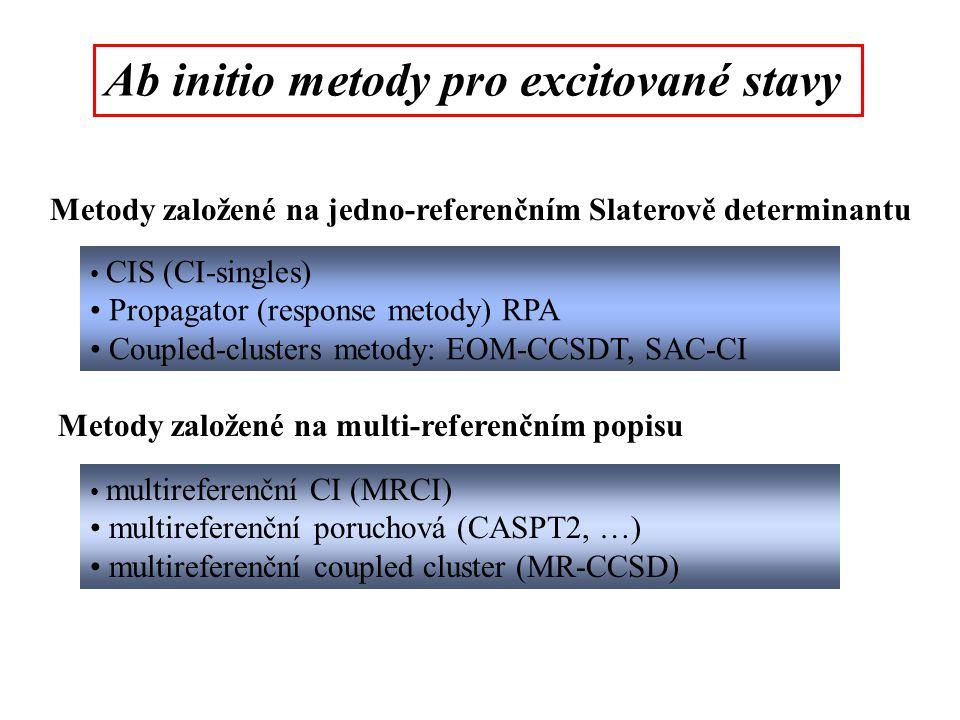 Ab initio metody pro excitované stavy