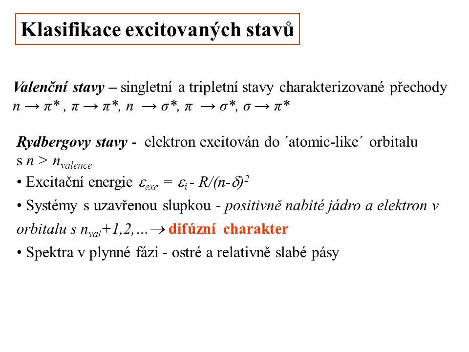 Klasifikace excitovaných stavů