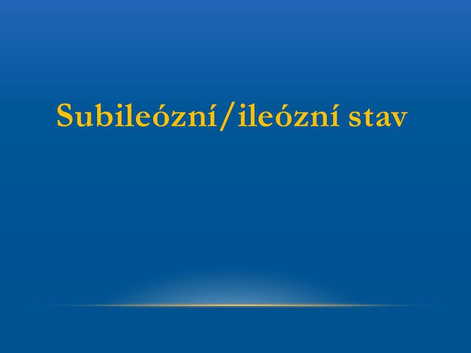 Subileózní/ileózní stav