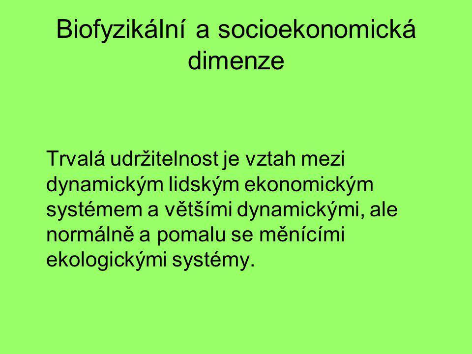 Biofyzikální a socioekonomická dimenze
