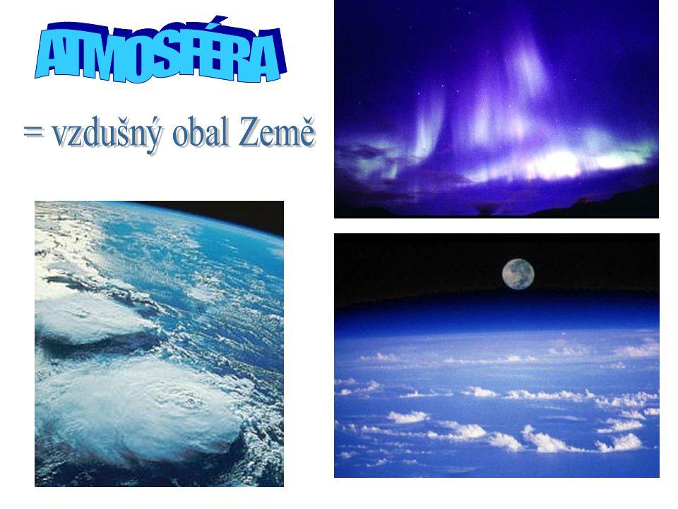 ATMOSFÉRA = vzdušný obal Země
