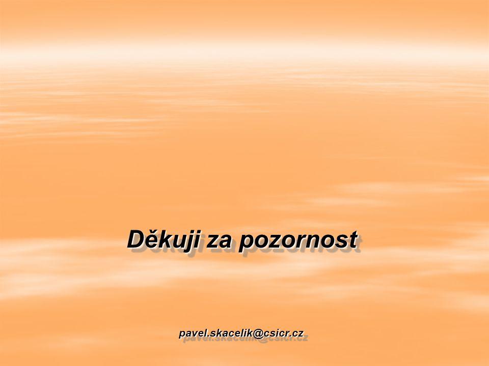 Děkuji za pozornost pavel.skacelik@csicr.cz
