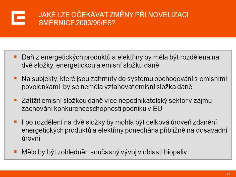 Odborný energetický seminář ředitel útvaru Legislativa a trh