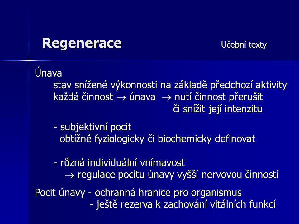 Regenerace Učební texty