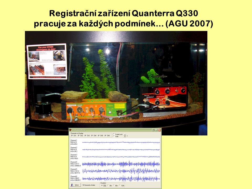 Registrační zařízení Quanterra Q330 pracuje za každých podmínek… (AGU 2007)