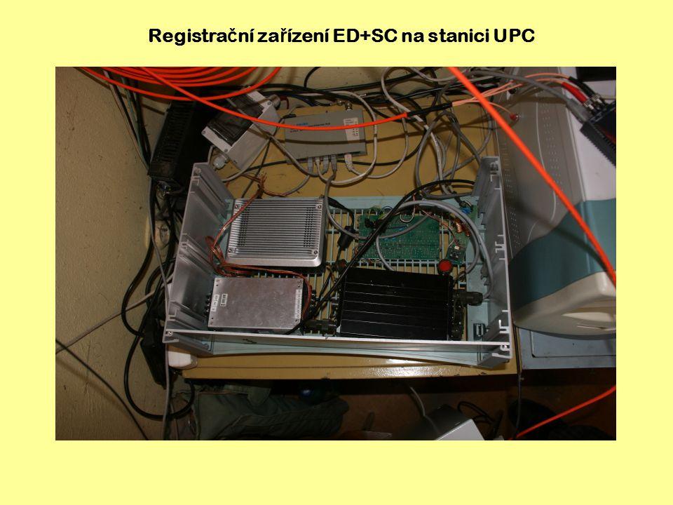 Registrační zařízení ED+SC na stanici UPC