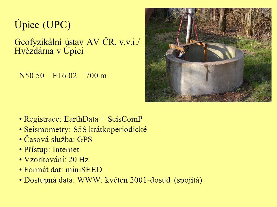 Geofyzikální ústav AV ČR, v.v.i./ Hvězdárna v Úpici