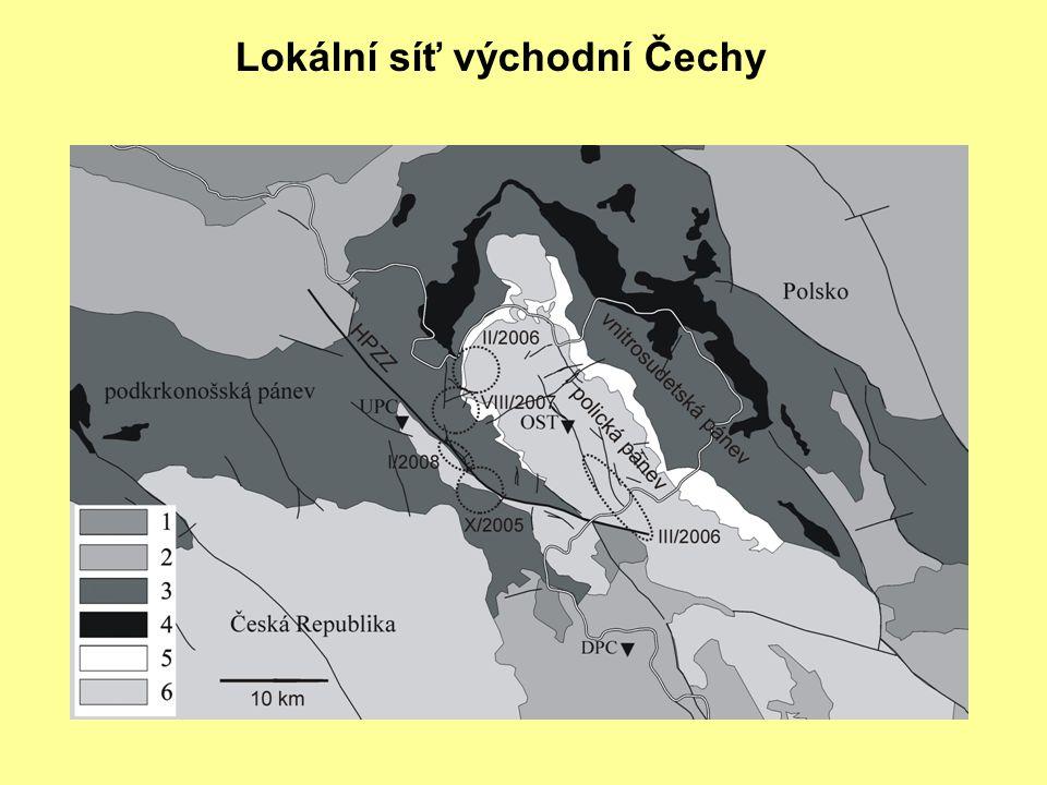 Lokální síť východní Čechy