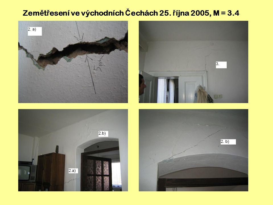 Zemětřesení ve východních Čechách 25. října 2005, M = 3.4