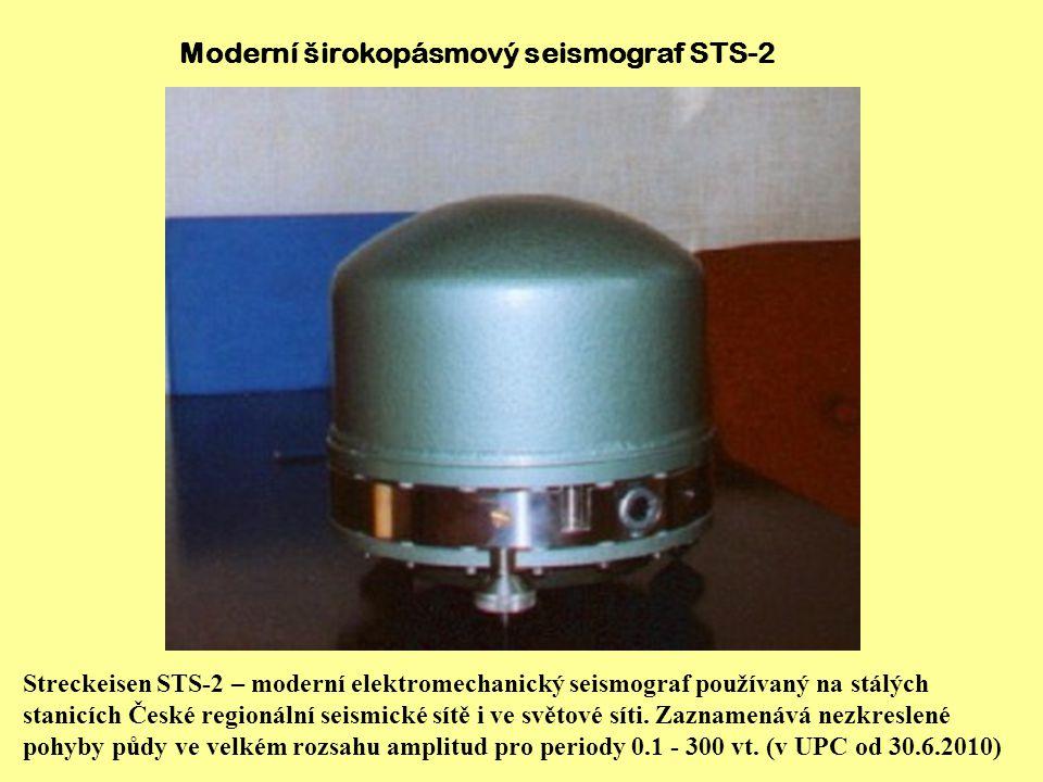 Moderní širokopásmový seismograf STS-2
