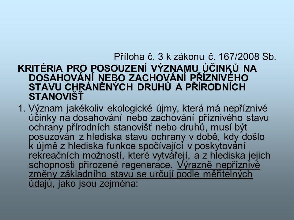 Příloha č. 3 k zákonu č. 167/2008 Sb.