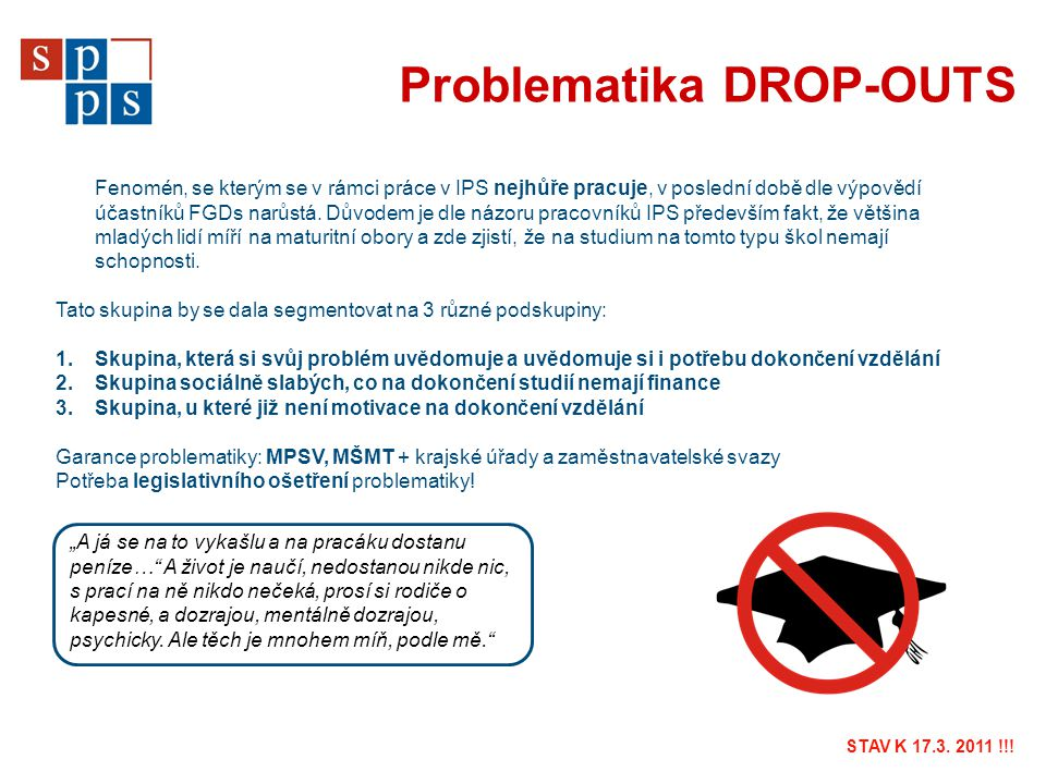 Problematika DROP-OUTS