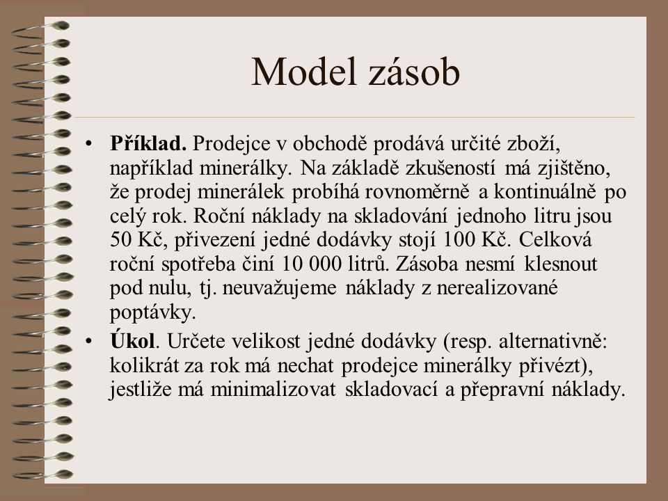Model zásob