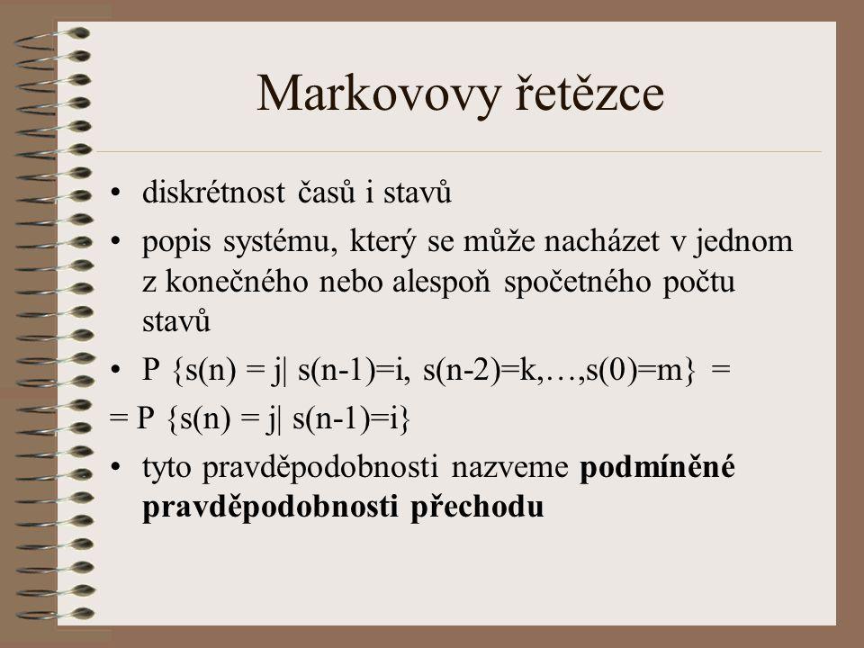 Markovovy řetězce diskrétnost časů i stavů