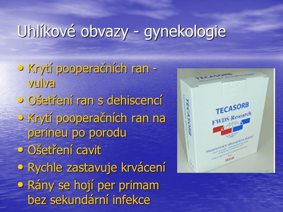 Uhlíkové obvazy - gynekologie