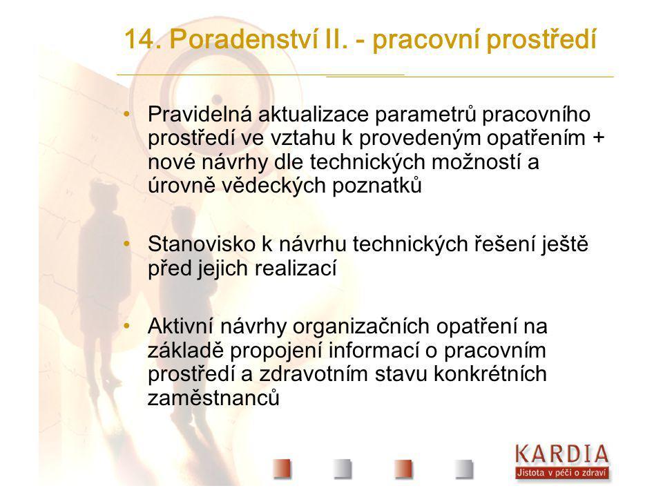 14. Poradenství II. - pracovní prostředí