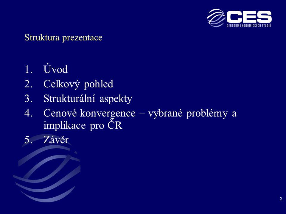 Cenové konvergence – vybrané problémy a implikace pro ČR Závěr