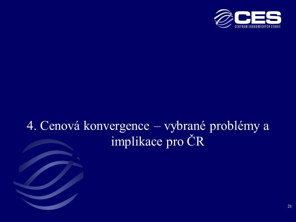 4. Cenová konvergence – vybrané problémy a implikace pro ČR