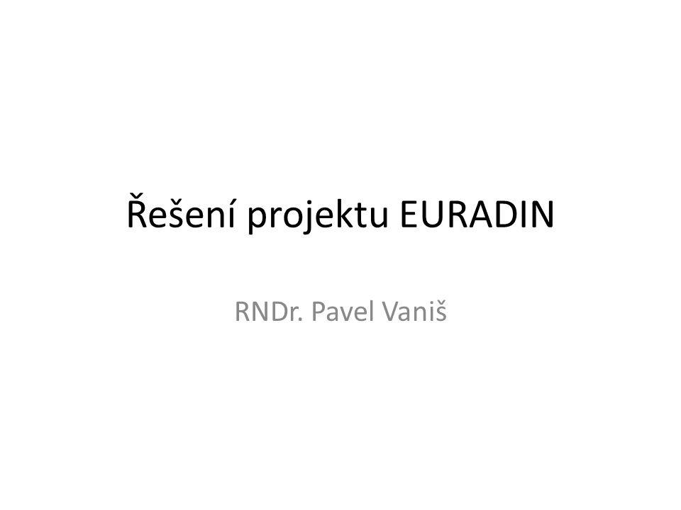 Řešení projektu EURADIN