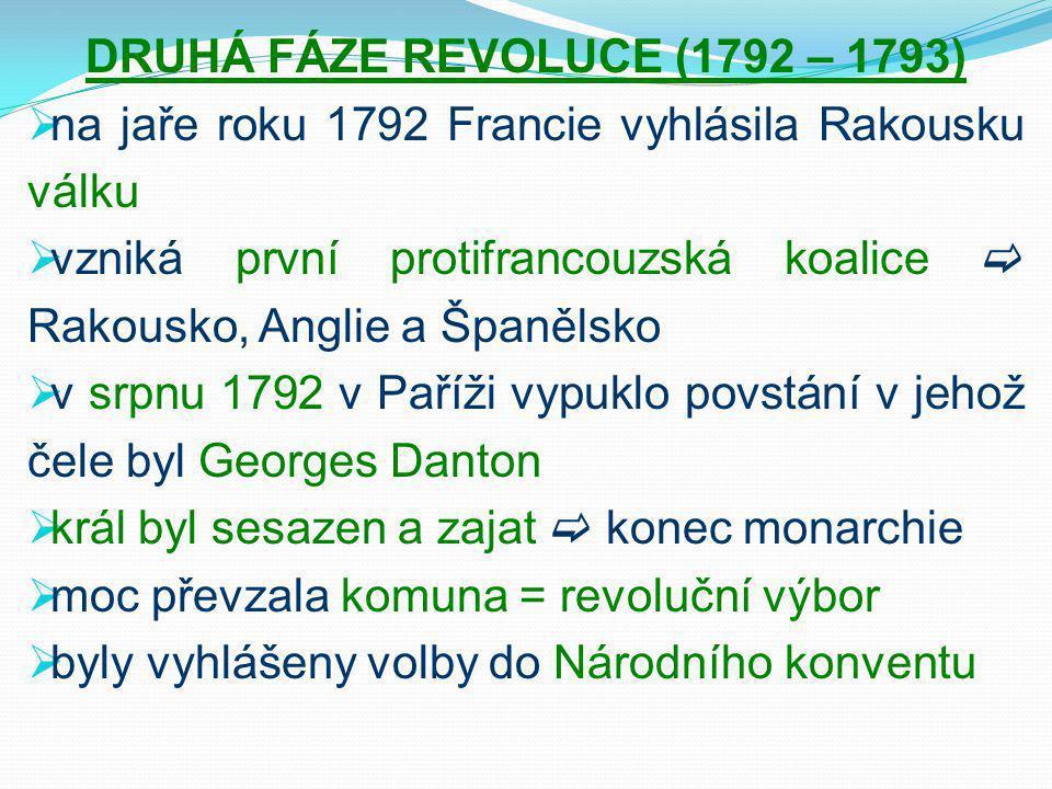 DRUHÁ FÁZE REVOLUCE (1792 – 1793)