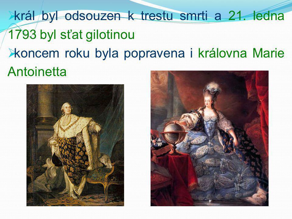 král byl odsouzen k trestu smrti a 21. ledna 1793 byl sťat gilotinou