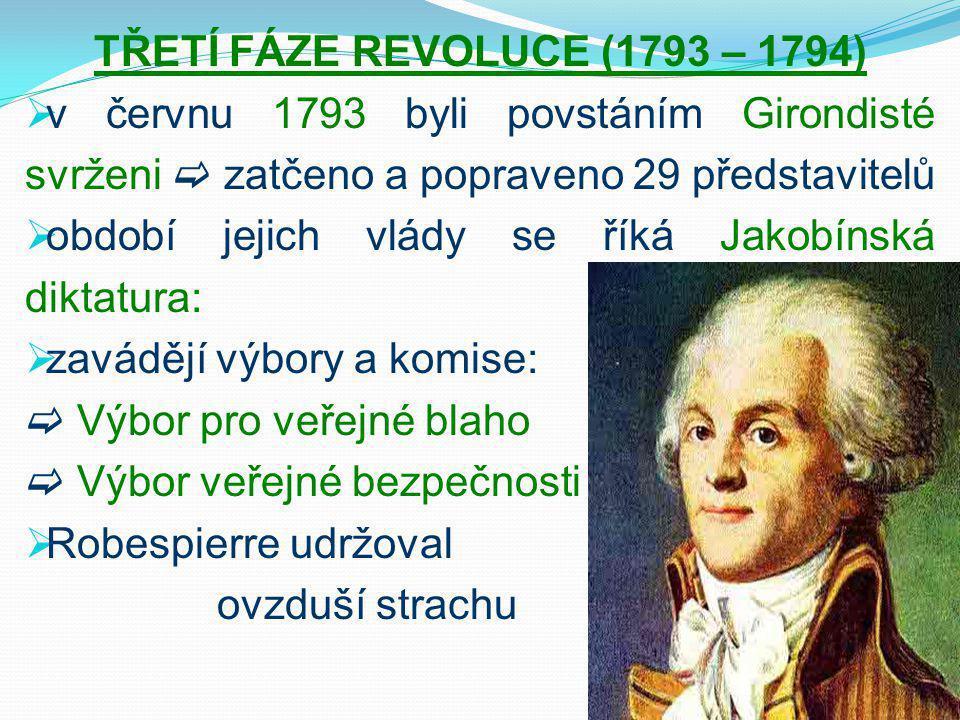 TŘETÍ FÁZE REVOLUCE (1793 – 1794)