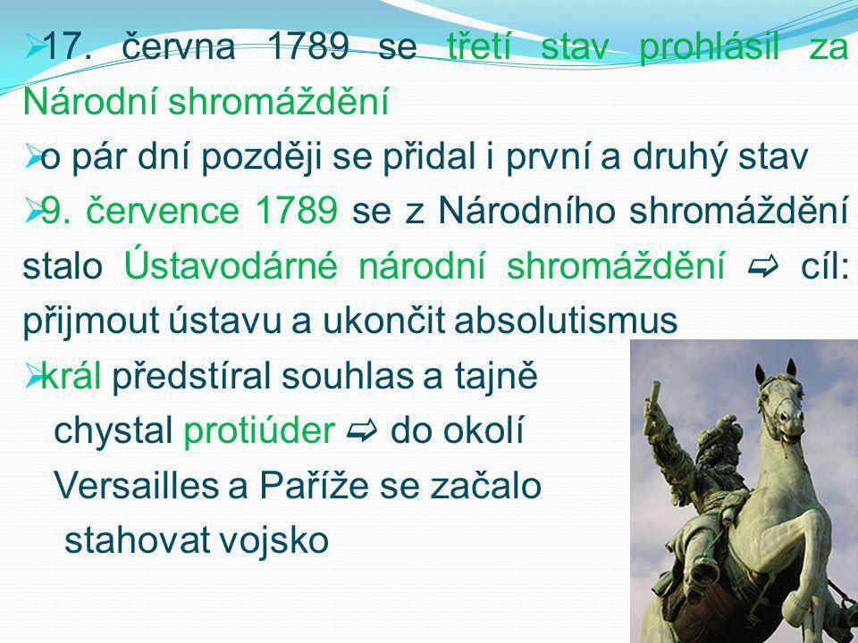 17. června 1789 se třetí stav prohlásil za Národní shromáždění
