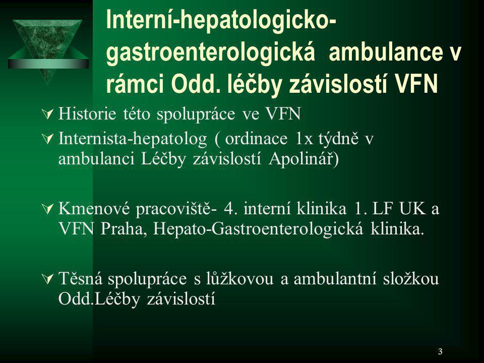 Interní-hepatologicko-gastroenterologická ambulance v rámci Odd