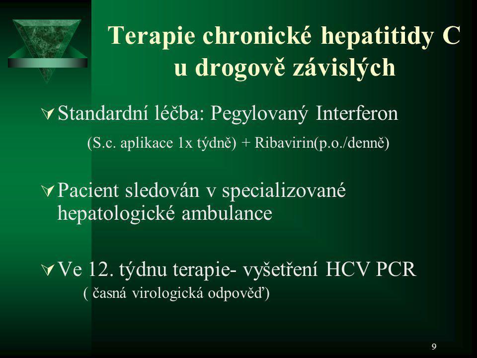 Terapie chronické hepatitidy C u drogově závislých