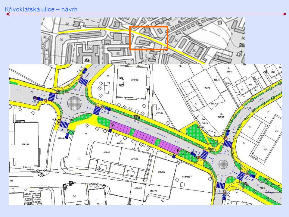 Křivoklátská ulice – návrh