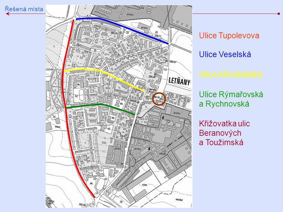 Ulice Rýmařovská a Rychnovská