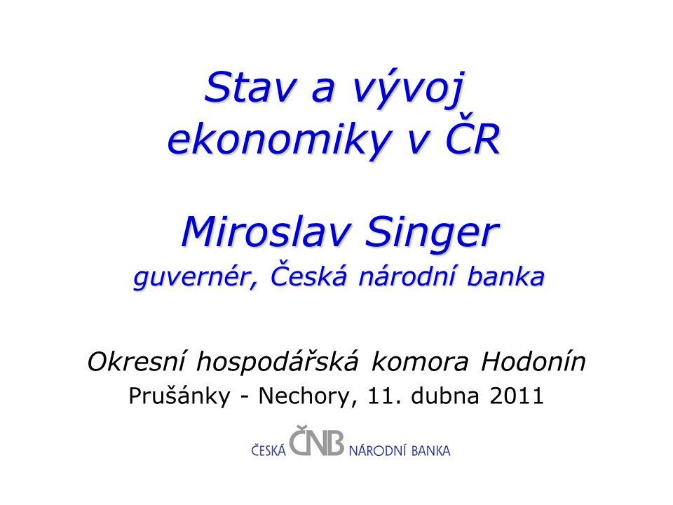 Stav a vývoj ekonomiky v ČR